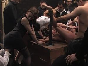 lusty mature woman having brutal sex