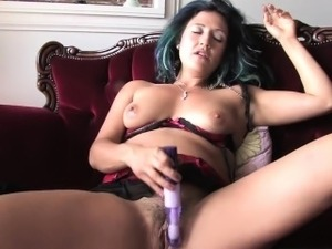 Girls Out West - Horny tantra teacher toys her hairy snatch
