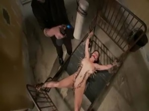 Tied bdsm bitch hot wax punished free