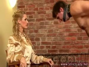 Fetish bdsm mistress uses wax free