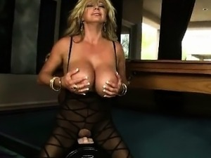 Busty blonde milf goes crazy riding part6