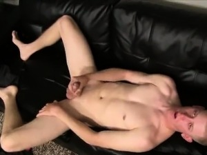 Straight hunk playing with his hard cock for money