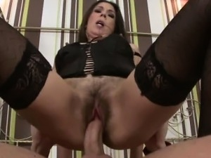 Mature slut in lingerie doggystyle drill