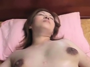 Pregnant asian gets hairy pussy toyed