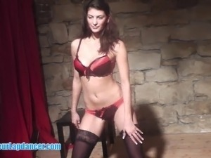 It�s obvious, she is very experienced in striptease and dancing....
