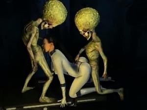 hardcore sex with alien