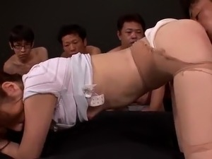 bukkake gang bang sex