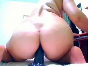 huge dildo riding latin