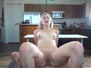 Casting Couch-X Blonde cheerleader exhibits off onto webcam