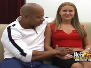 girl sees big cock on webcam