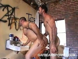Nasty Gay Bears Having Anal in the Bathroom