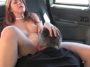 Redhead Brit bangs fake taxi driver in public