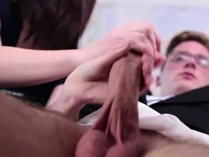 Mormon amateur guy getting handjob from girlfriend