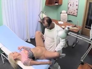 doctors examing a girls butt