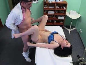 Czech brunette petient fucked in fake hospital