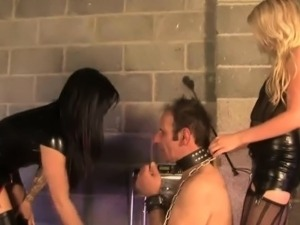 Mistresses queening and whipping pathetic sub