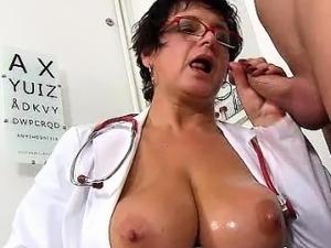 Big tit doctor handjob