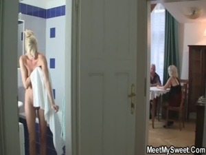 GF in threesome with his BF's parents free