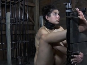 Bruised stocked submissive being dominated