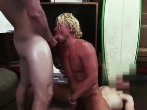 Gay anal fuck for cash for amateur surfer dude