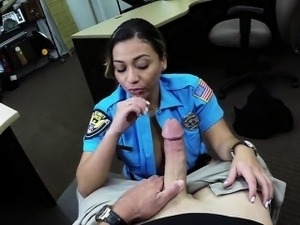 Tattooed police officer banged hard