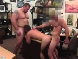 Straight guy get blow job in chair gay Guy finishes up with