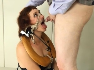 pleasing BDSM toilet slut fucked anally hard