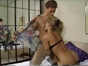 He brings his blonde stephmom in stockings breakfast