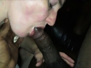 She sucks a black cock for first time