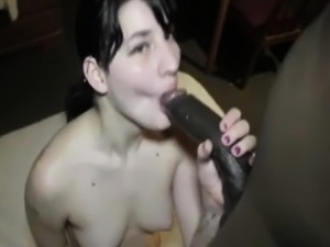 My Hot Cheating Wife Giving The Best Blowjob For Her BBC