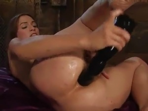 Thin Amber Rayne Fists Her brown eye And Then playthings close by darky sex toy