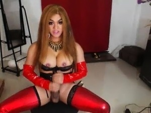 Big boobs and latex
