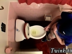 Gays tress pissing Unloading In The Toilet Bowl
