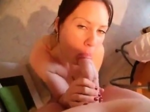 POV blow job in kitchen