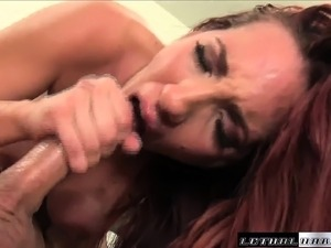 Big breasted redhead milf Kelly surrenders her aching snatch to Mike