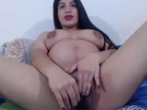 Pregnant Hispanic Masturbating