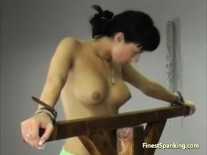 Dark girl stripped and whipped