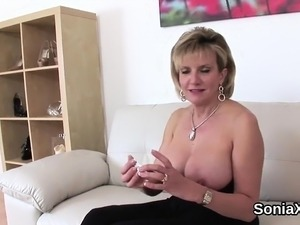 Unfaithful british milf gill ellis exposes her huge tits