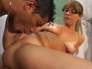 Monster brazilian cock fucks his mature teacher