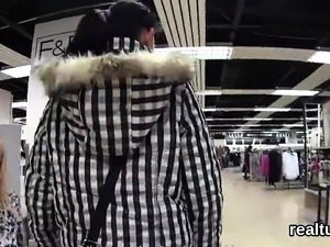 Breathtaking czech chick gets tempted in the hypermarket and