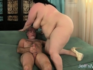 Eliza's huge breasts jiggle and dance as her pussy gets pounded hard