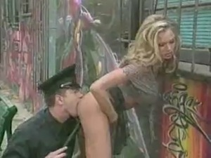 Stupid Whore Arrested by a Policeman by snahbrandy
