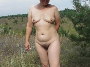 Hairy mature outdoor sex