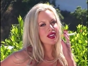 Bimbo slut in latex boots double penetrated by two guys