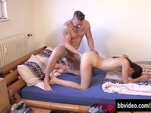 Slim german cutie take cock