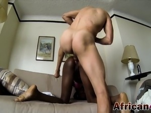 African Whore Takes Hard Cock In Her Ass