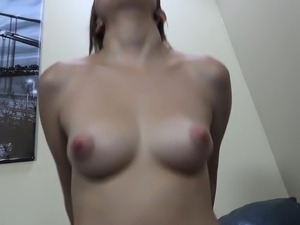 Slender babe with perky tits and a marvelous ass takes a hard fucking