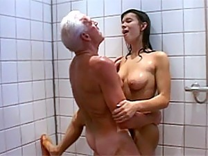 young shower girls
