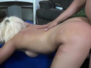 Bodacious blonde Cali Westwood gets a heavy dose of intense drilling
