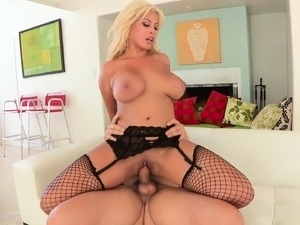 Stacked milf Bridgette loves to suck hard meat and to get nailed deep